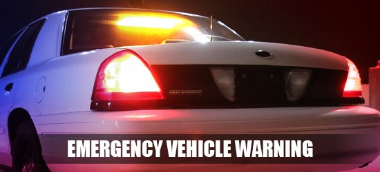 emergency vehicle warning