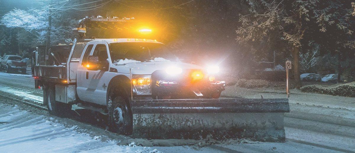 snow plow lights