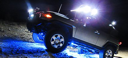 Off Road Vehicle with Rock Lights