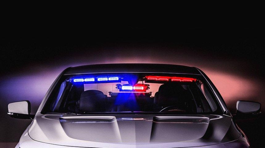 Interior Light Bars for Visor u0026 Rear Deck & LED Visor Lights | Rear Deck Emergency Lights | Interior LED Light Bars