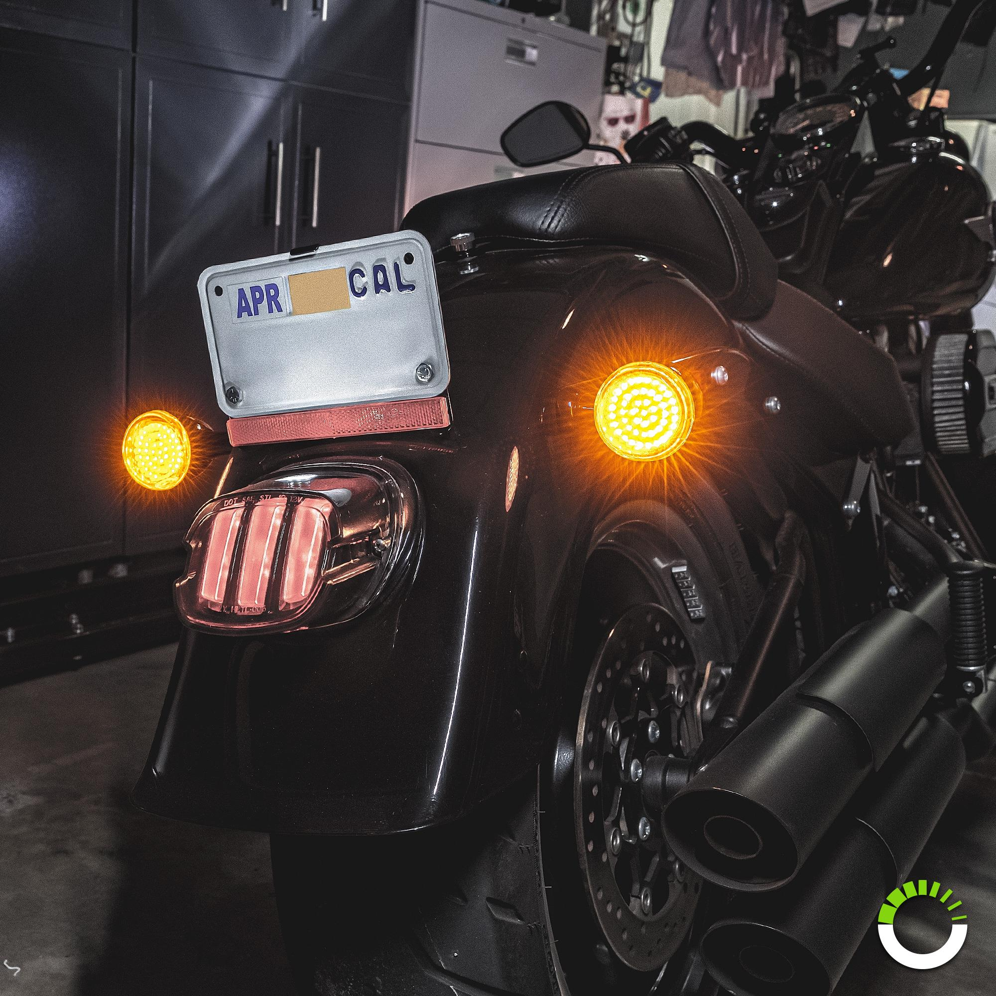 Harley Davidson Motorcycle Chrome Rear Turn Direction Signal Housings 1156 Plug