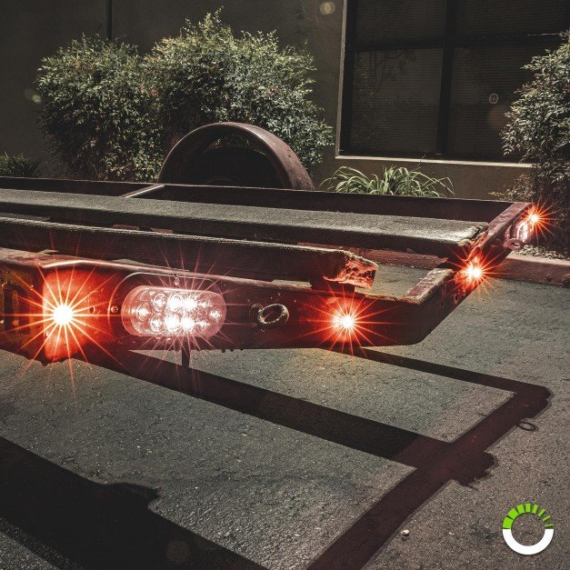 """3/4"""" 1 LED Round Clearance Marker Light - RED"""