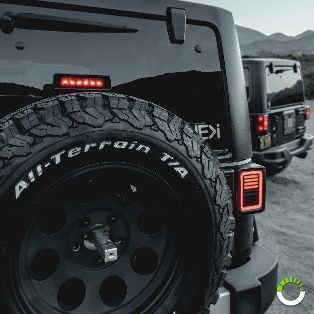 6-LED 3rd Brake Light - Smoked (Fits Jeep Wrangler JK & Unlimited)