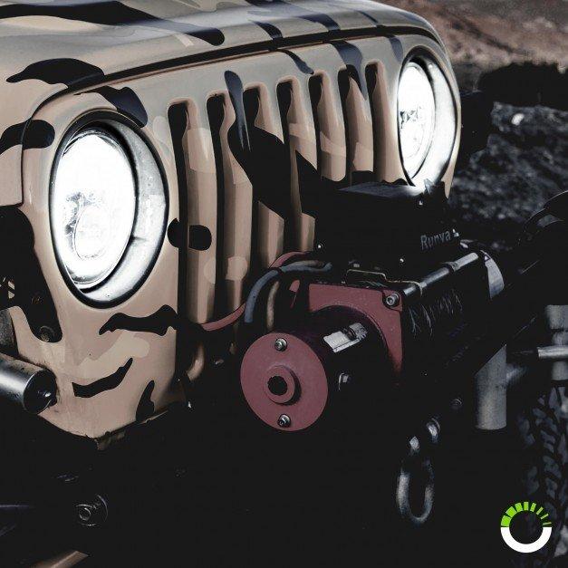 """OLS 7"""" 45W Round LED Sealed Beam Headlight Assembly"""