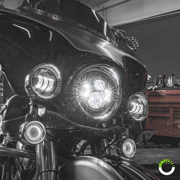 "7"" Round Harley Davidson Motorcycle Headlight Kit"