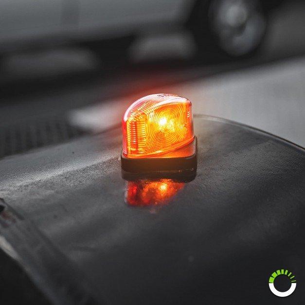 2pc AMBER/RED LED Mini Fender Marker Light