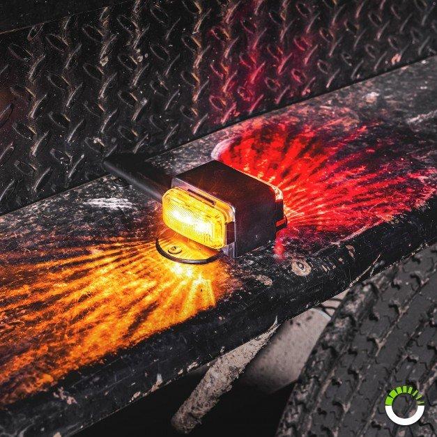 """7"""" AMBER/RED LED Fender Marker Light - Driver + Passenger Side"""