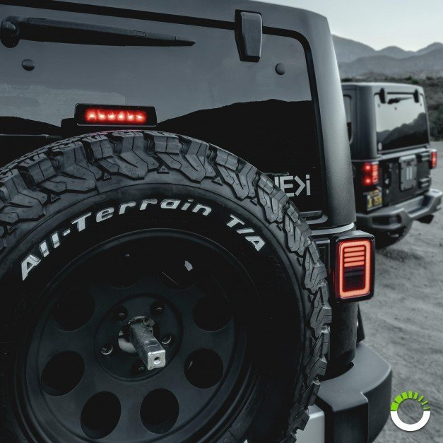 6-LED 3rd Brake Light - Smoked (Fits Jeep Wrangler JK & Unlimited)