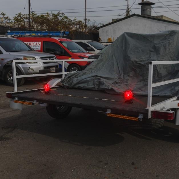 12V DC DOT Approved 2 LED Magnetic Towing Light Kit