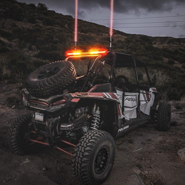 (RED) TBT + (AMBER) Strobe + (White) Scanner/Reverse/Auxiliary LED Chase Light Bar