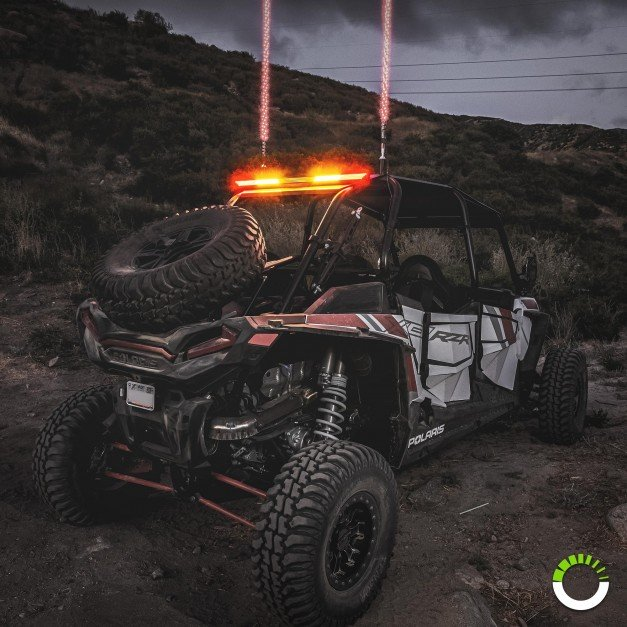 """35"""" (RED) TBT + (AMBER) Strobe + (White) Scanner/Reverse/Auxiliary LED Chase Light Bar"""