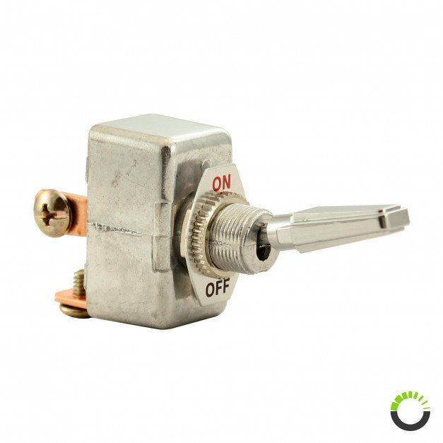 12V DC 35A SPST ON/OFF Toggle Switch w/ Chrome Plated Handle