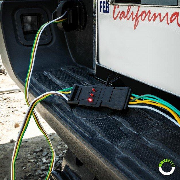 4-Way Flat LED Indicator Trailer Wiring Circuit Tester