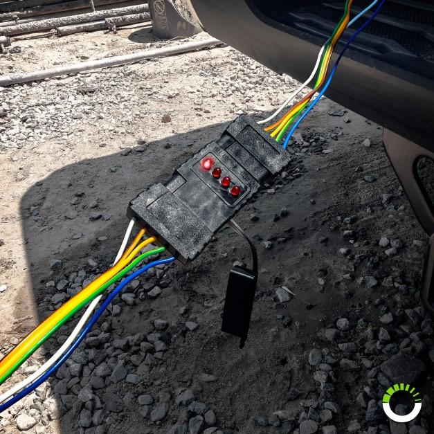 5-Way Flat LED Indicator Trailer Wiring Circuit Tester