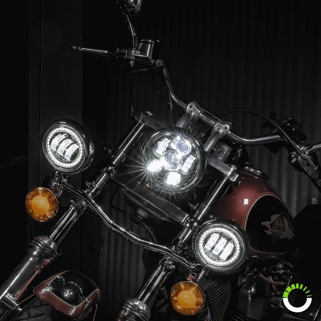 "5.75"" Round LED Sealed Beam Headlight for Harley Bikes"