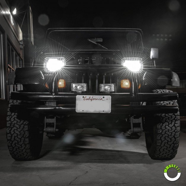 "7"" x 5"" LED Headlight w/ DRL"