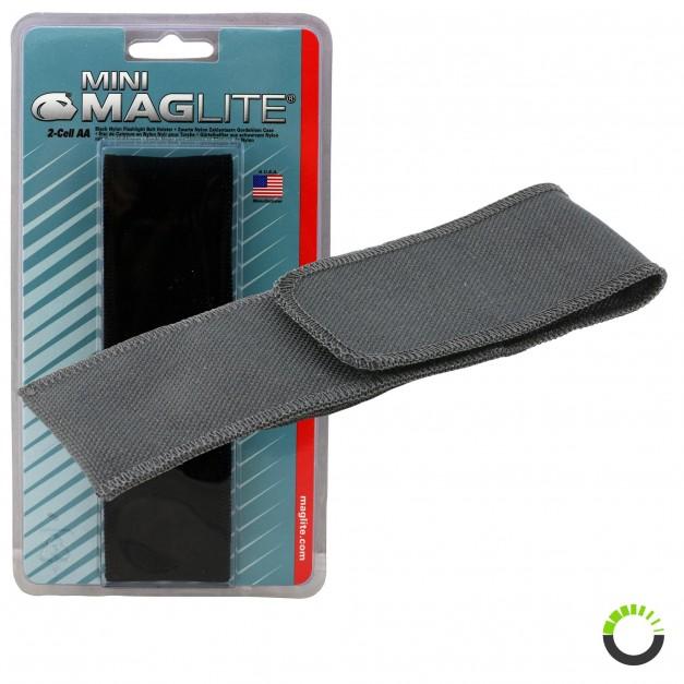 Flashlight Full Flap Holster for Mini Maglite - Black for Mini Maglite MAG002, MAG003, MAG004, MAG005