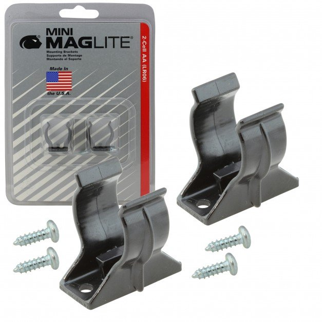 Flashlight Mounting Bracket for Mini Maglite MAG002, MAG003, MAG004, MAG005