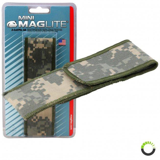Flashlight Full Flap Holster - Camo for Mini Maglite MAG002, MAG003, MAG004, MAG005
