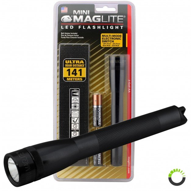 Mni Maglite Pro LED Flashlight w/ Holster - Black