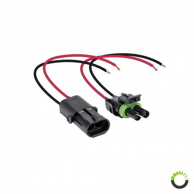 "2-Way 16-AWG 10"" Wire Weather Pack Connector"