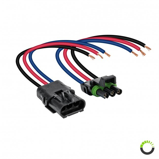 "3-Way 12 AWG 10"" Wire Weather Pack Connector"