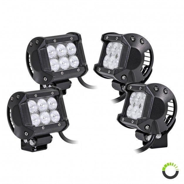 "4pc LAMPHUS CRUIZER CRLB06 4"" 18W Off Road LED Light Bar"