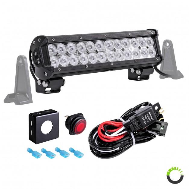 "CRUIZER 12"" 72W LED Light Bar + 8ft Wiring Harness Kit"