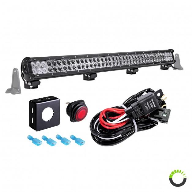 "CRUIZER 36"" 234W LED Light Bar + 8ft Wiring Harness Kit"