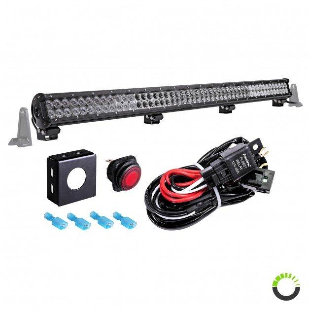 "LAMPHUS CRUIZER CRLB96 44"" 288W Off Road LED Light Bar + Wiring Harness Kit"