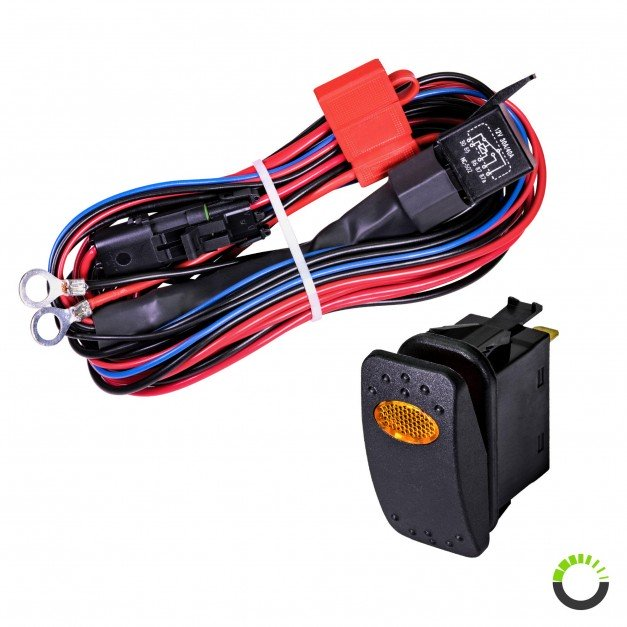 CRUIZER 17ft 30/40A Relay 12AWG 1-2 Wiring Harness w/ 20A SPST On/Off Rocker Switch