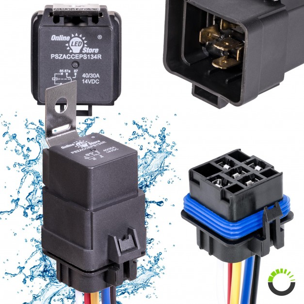 12V DC 40/30A SPDT Bosch Style 5-Pin Relay