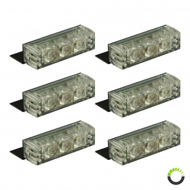 18-LED 6-Light Grille Light + Controller