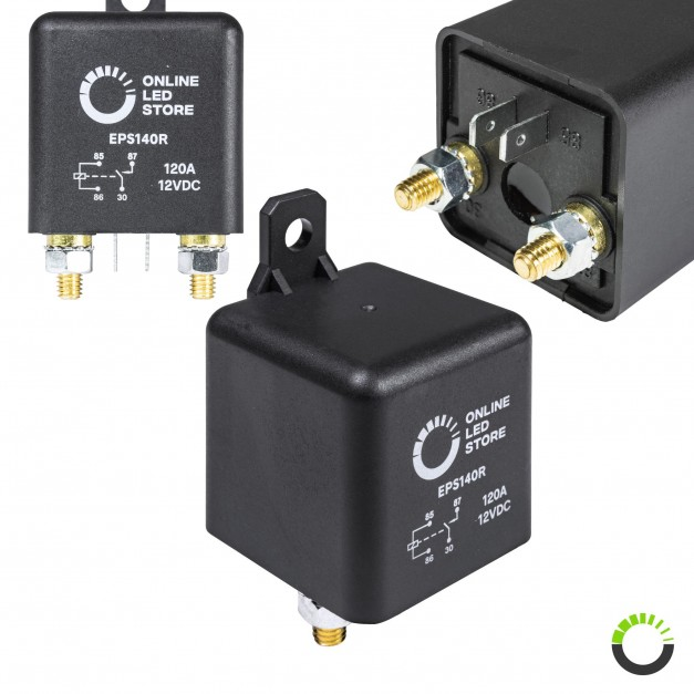 12V DC 120A SPST 4-Pin Split-Charge Relay