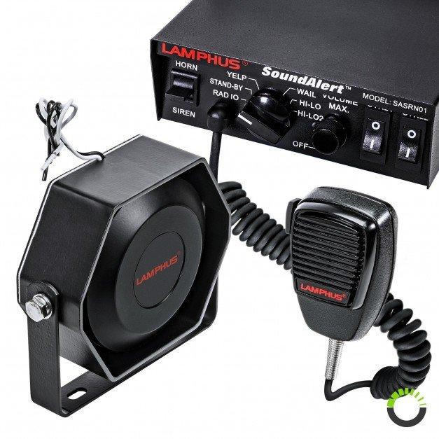 SoundAlert 100W Mechanical Siren + 100W 118-124dB Speaker Kit