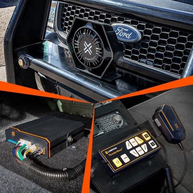 ThunderWave (SRN003 + SPK011) 100W 126 - 134dB Remote Siren Amplifier Speaker Kit