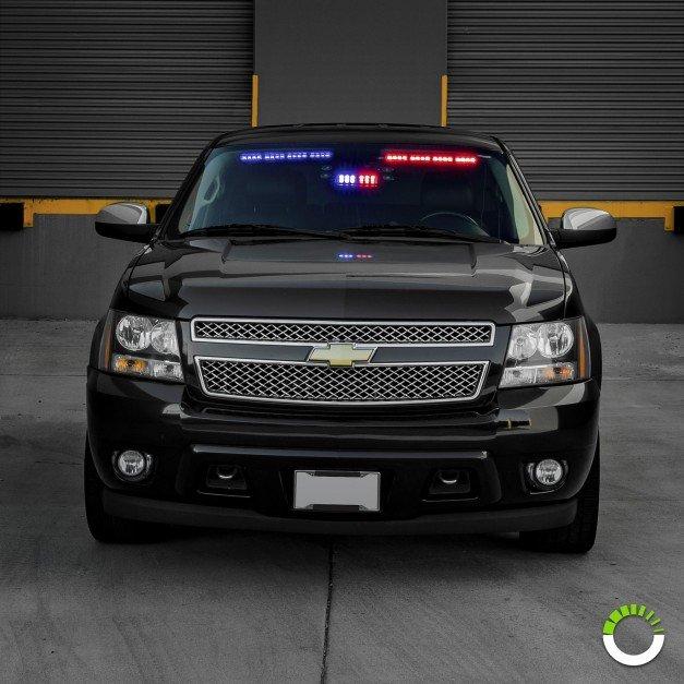 """SolarBlast 18"""" 16W LED Visor Light Bar Driver + Passenger Side 2pc Kit"""