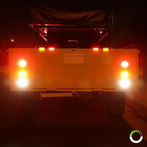 "4"" 10-LED Round Tail Light"