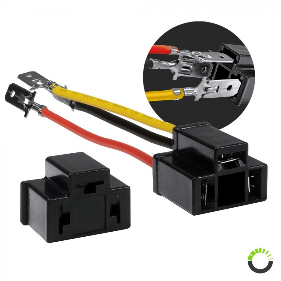 2pc 5  H4 Socket Converter Kit   ACCEPSACP0012