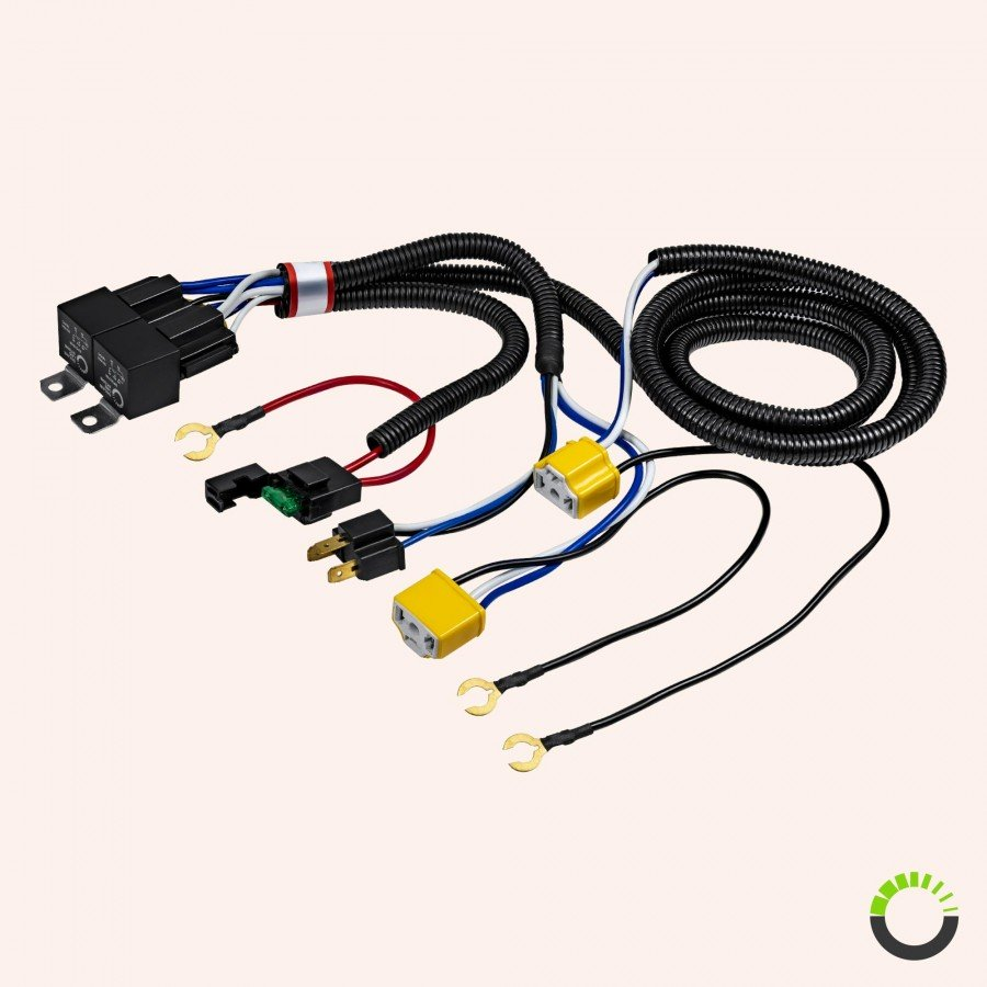 h4 negative switched headlight system relay wiring harness. Black Bedroom Furniture Sets. Home Design Ideas