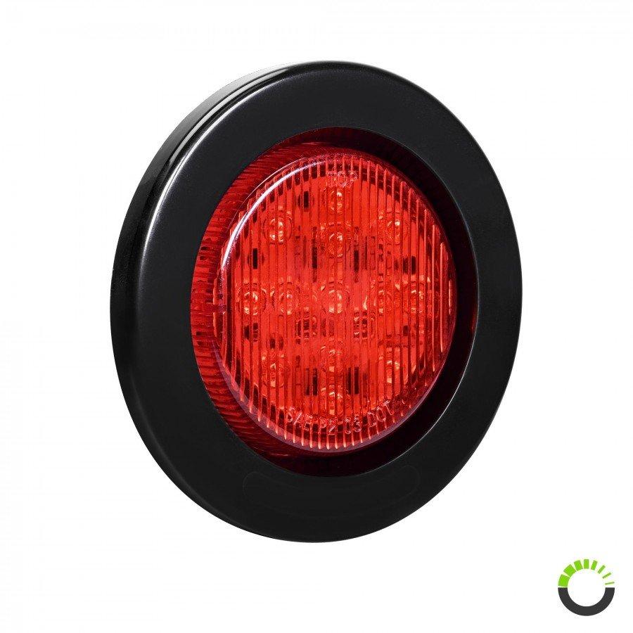 red lens Red 2 Oval Flat Side Marker