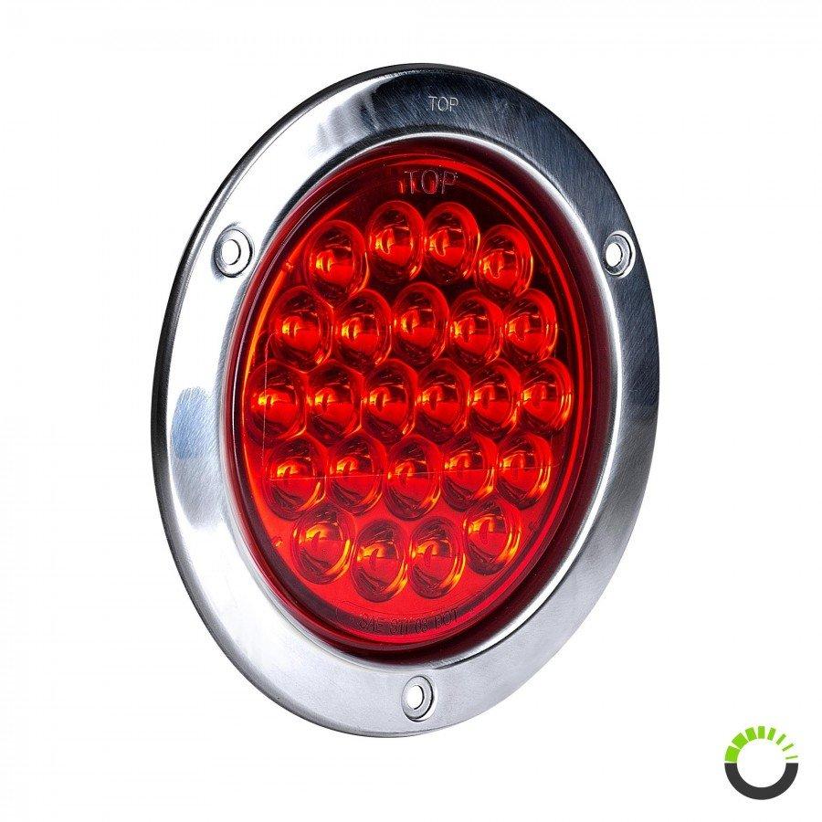 E-Tested Red Mini LED Rear Light Round