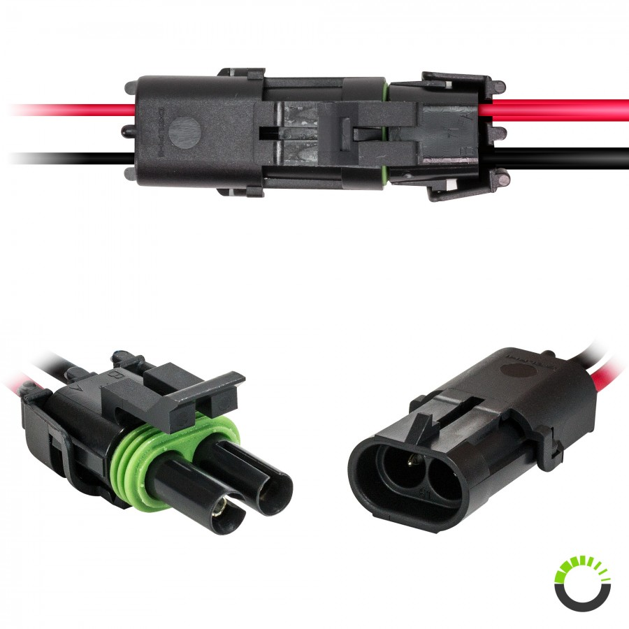 10 Quot 16 Awg Wires Weather Pack Connectors Kit