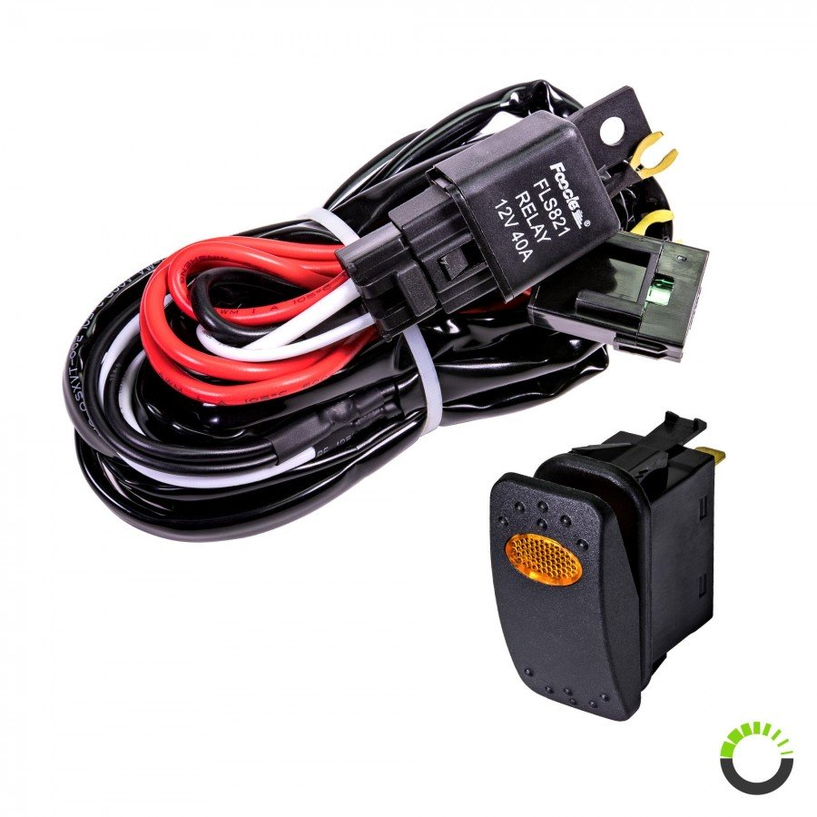 Lamphus Orwh03 Off Road Light Bar Wiring Harness Set On Switch Ac Cruizer 8ft 30 40a Relay 30a Fuse 1 2 W 20a