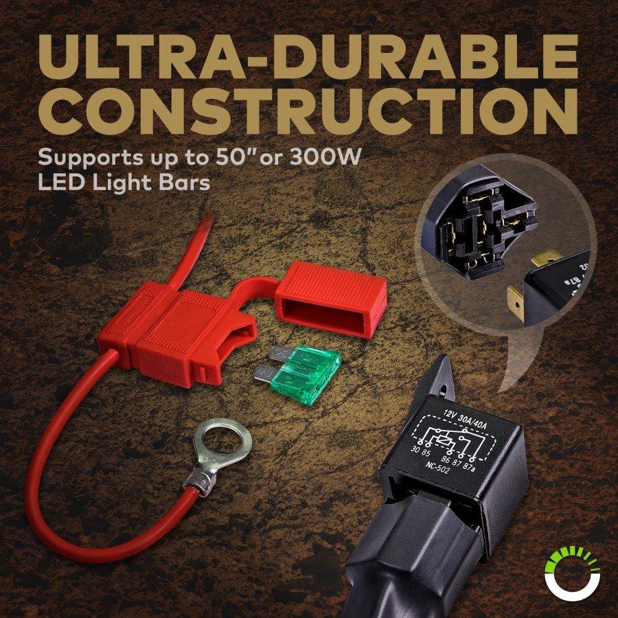 Lamphus Orwh06 17 Heavy Duty Led Off Road Light Wiring Harness Set Rocker Switch On Spst Prev