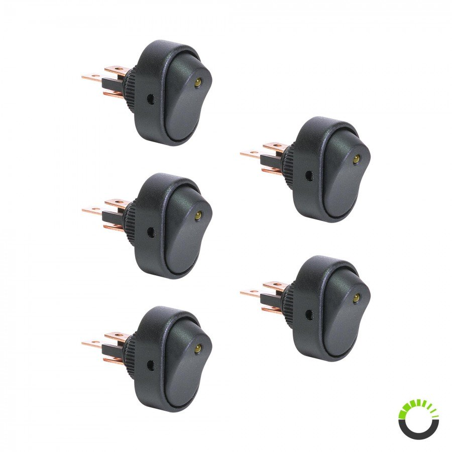 Ols 12v Dc 30a 3 Pin Spst Led On Off Rocker Switch Pszacceps005s Lighted Toggle 25a Next
