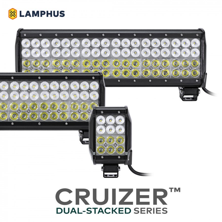 Cruizer Dual Stacked 4 Quot 36w Led Light Bar Orzledlbr204 Co