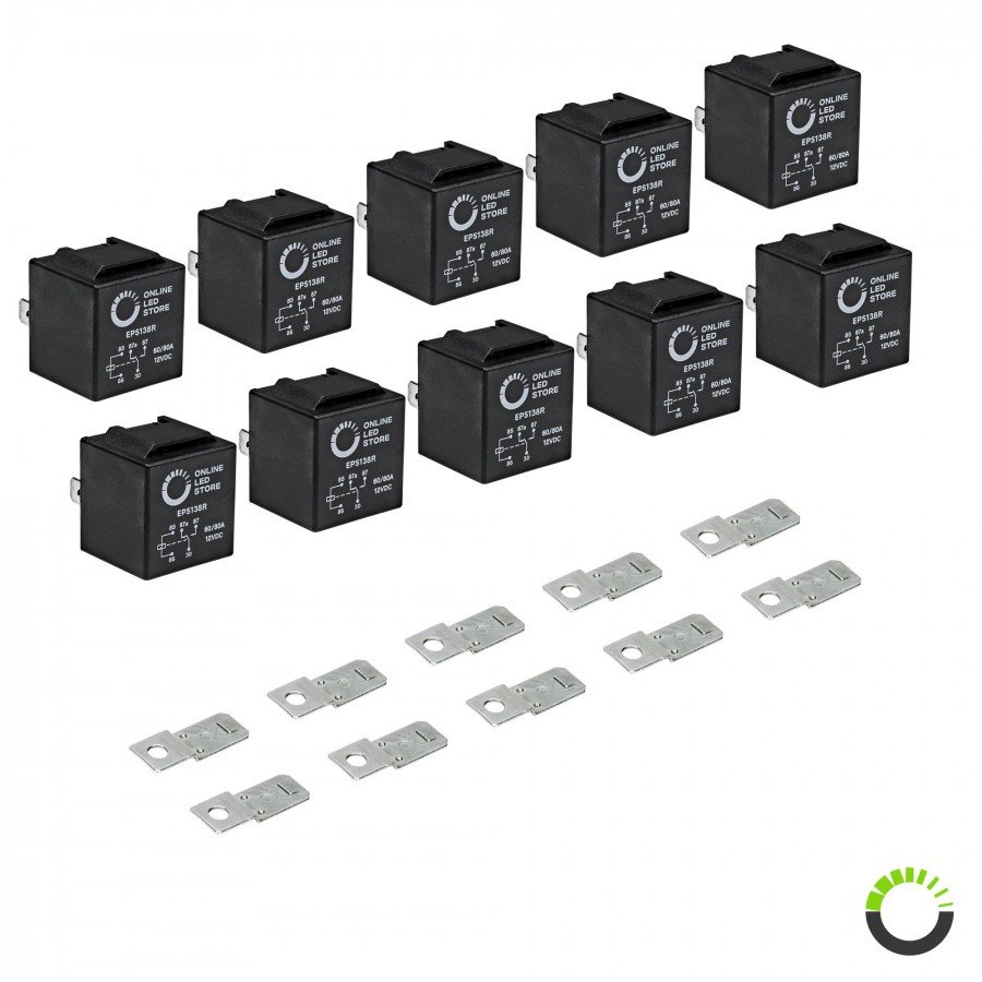 10pc 12v dc 40 30a spdt bosch style 5 pin relay. Black Bedroom Furniture Sets. Home Design Ideas