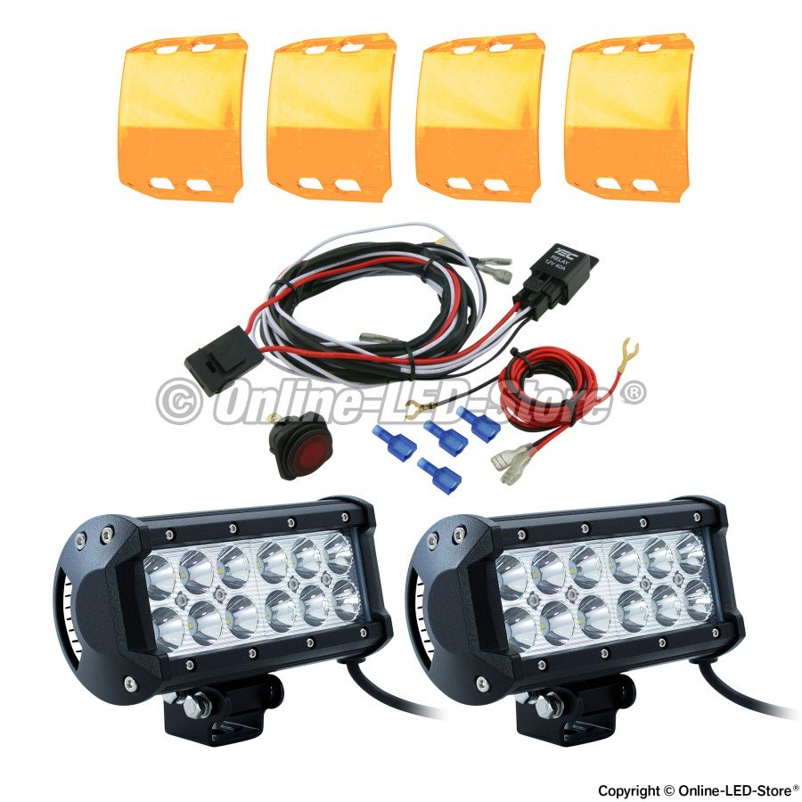 Lamphus Cruizer Crlb12 Led Work Light With Amber Lens Cover And Motorcycle Wiring Harness Kit Combo Pszledcoma021