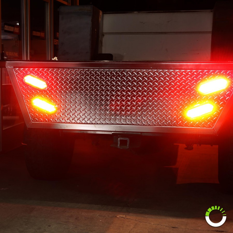 """Truck Accessories Store >> 6"""" 10-LED Oval Tail Light - White 